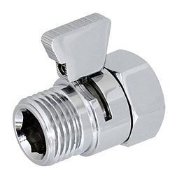 Aquafaucet S-003 Shower Head Shut-Off Valve Brass with Metal