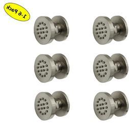 1-6pack bath Brass round Massage Shower spa tap System Body