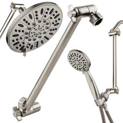 """Hotel Spa 11"""" Solid Brass Adjustable Shower Extension Arm, B"""