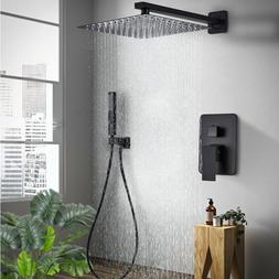 12 inch Rainfall Shower Faucet  Combo Set With Handheld Show