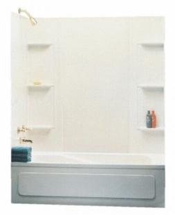 Maax 101604-000-129 5-Piece Bathtub Wall Kit, 48-60 in L X 3