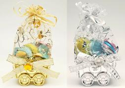 12PC Fillable Baby Shower Organza Bag Candy Stroller Favors