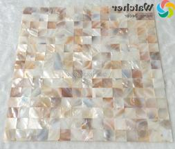 1BOX 11pcs Mother of Pearl Natural Shell Mosaic tiles for Ki