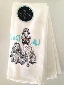 2 Kitchen Hand Dish Towels Cynthia Rowley We Do Wedding Dogs