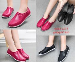 2018 Women Restaurant Oil Resistant Kitchen Work Shoes Non-s