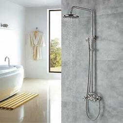 Oil Rubbed Bronze Bathtub Shower Faucet Sets Wall Mount Comp