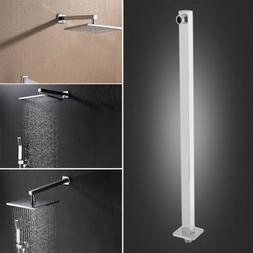 16inch Brushed Chrome Straight Wall-Mounted Bathroom Shower