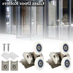 2x Shower Glass Door Rollers/Runners/Wheels/Pulleys Twin Whe