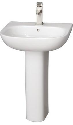 Barclay Products 3-2031WH Tonique 550 Pedestal Lavatory with