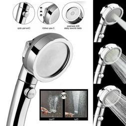 3 In1 High Pressure Showerhead Boosting Handheld ON/Off Paus