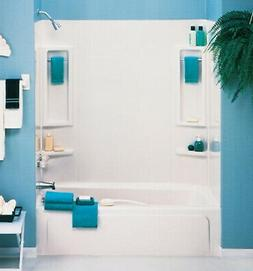 ASB 39240 5 Piece White Vantage Tub Wall
