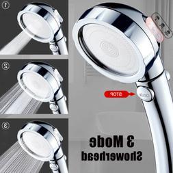 3in1 High Pressure Showerhead Handheld Shower Head Boosting