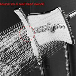 4 Setting Multi-Function Waterfall Rainfall ABS Chrome Showe