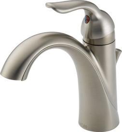 Delta Faucet Lahara Single-Handle Bathroom Faucet with Diamo