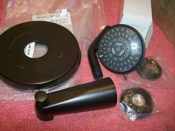 Symmons 5502-SBZ-TRM Elm 1- Handle Tub and Shower Faucet Tri
