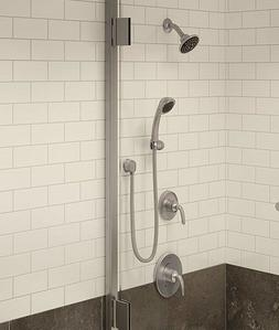 Symmons 5505-STN-TRM Elm Satin Nickel Shower System with Han