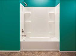 Mustee 56WHT Durawall 42-in x 72-in x 58-in 5-Pc Bathtub Wal