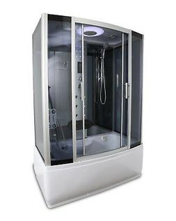 "58"" x 33"" Steam Shower & Soaking Tub Base with Lights, Foot"