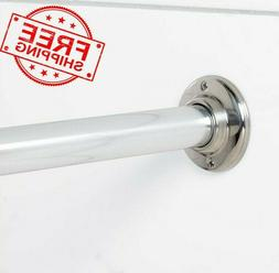 60 in Fixed Single Straight Shower Curtain Rod Chrome Stainl
