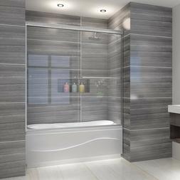 "ELEGANT 60""W x 62""H Bypass Sliding Bathtub Shower Door 1/4 G"