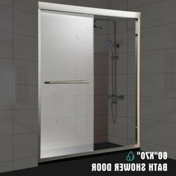 universal 60 framed sliding bath shower door