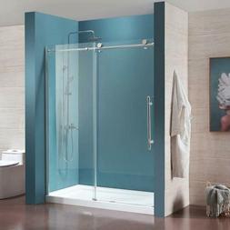 """62"""" x 72"""" Framed Clear Glass Bath Tub Sliding Shower Door Ch"""
