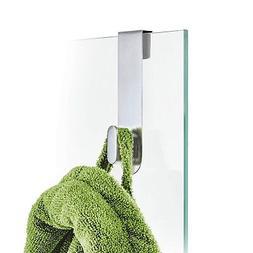 Blomus 68905 Areo Glass Door Shower Hook, Brushed