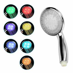 7 LED Colors Changing: Colorful Shower Head Home Bathroom Wa