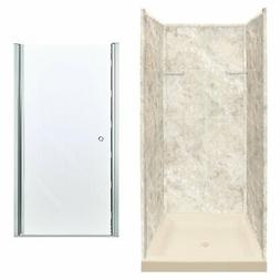"Transolid 72"" H x 36"" W x 36"" D Three Panel Shower Wall TRMB"