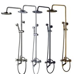 Shower Faucet Set 8 inch Rainfall Shower Head With Hand Show
