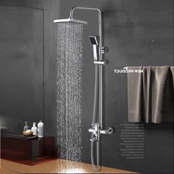 8-Inch Rainfall Shower Faucet System with Handle Sprayer Bat