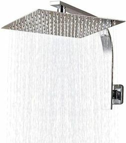 8-inch Stainless Steel Square Rainfall Shower Head with Exte