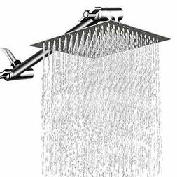 8 inches square rain showerhead with 11