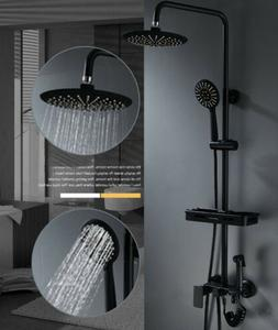 "8""Oil Rubbed Bronze Shower Set Faucet Bathroom Rainfall Show"
