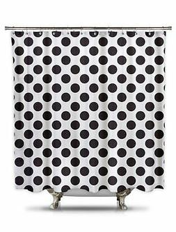 Black and White Polka Dot Shower Curtain, 70in X 78in 100% P