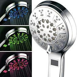 HotelSpa 3 Colors LED Hand Shower with Temperature Display,