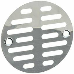 LASCO 03-1247 3-1/2-Inch with Two Screws Shower Drain Grate,
