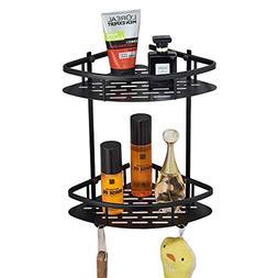 Rozin Wall Mounted Bathroom Kitchen Corner Shelf 2-Tier Show