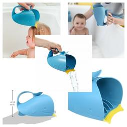 Skip Hop Moby Bath Tear-Free Waterfall Rinser Bath Cup, Blue