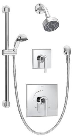 Symmons 3605-H321-V Duro Shower/Hand Shower Unit, Chrome