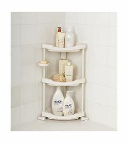 Tenby Living Corner Shower Caddy - 3 Shelf Shower Organizer