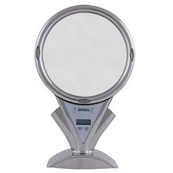 Zadr0 5X - 1X Power ZoomLED Lighted Shower Mirror, Stainless