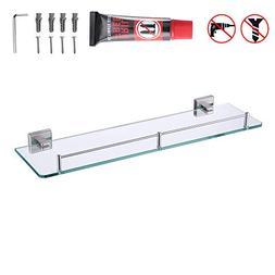 KES Bathroom Glass Shelf 1 Tier Shower Caddy Bath Basket Sta