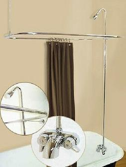 ADD ON SHOWER W/CURTAIN BAR FOR CLAWFOOT TUB ON LEGS WITH HE