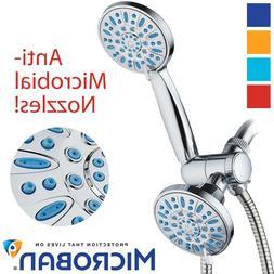 Antimicrobial/Anti-Clog High-Pressure 30-setting Shower Comb