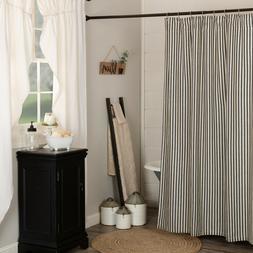 Ashmont Charcoal Grey Ticking Stripe Country Farmhouse Bath