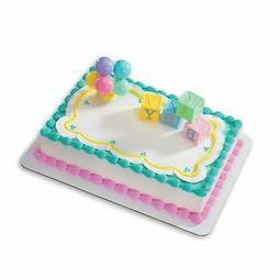 B-A-B-Y Blocks DecoSet Cake Decoration