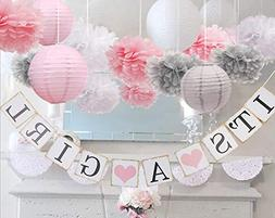 luckylibra Baby Girl Baby Shower Decorations, It is a Girl B