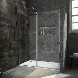 """BATH 60"""" x 72"""" FRAMELESS SLIDING SHOWER DOOR SCREEN 5/16"""" Cl"""
