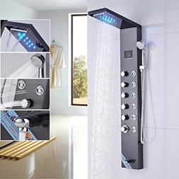 Rozin Bathroom 5 Functions LED Light Rain Waterfall Shower P